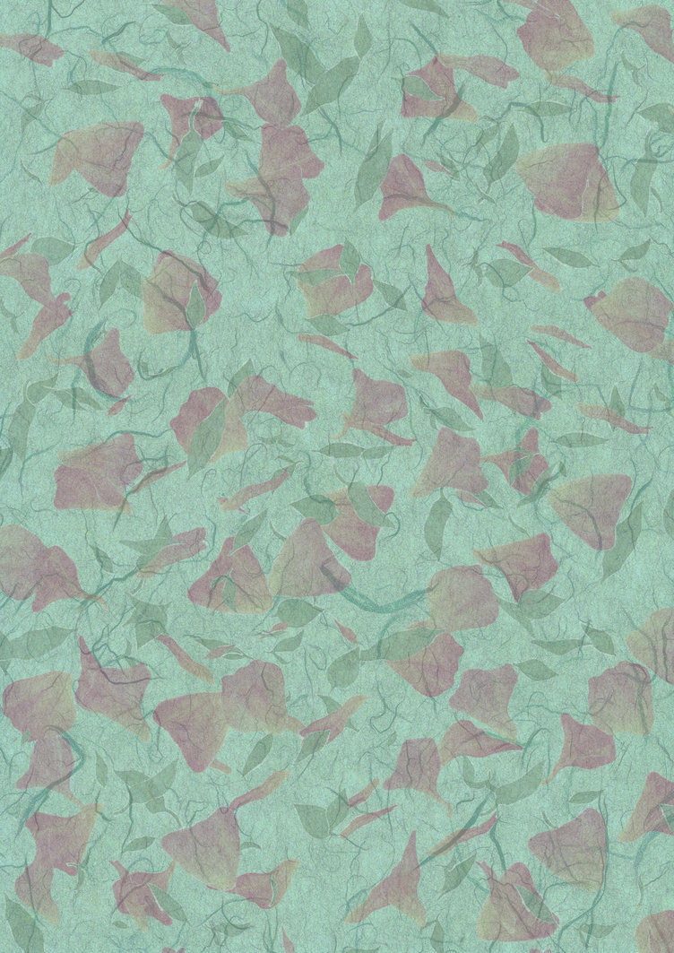 Green Floral Hand Made paper Texture