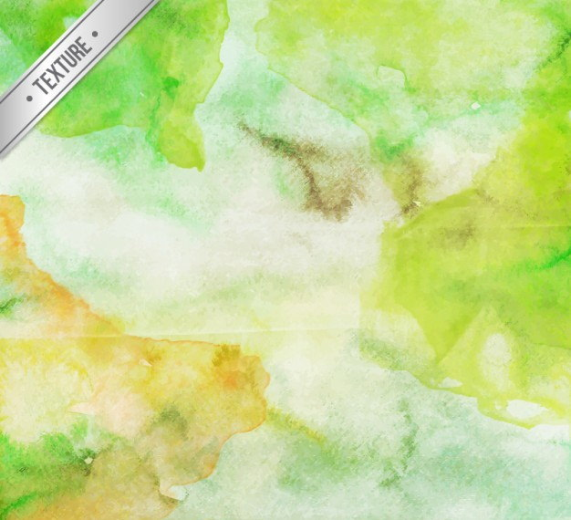 Green Mixture Watercolor Background