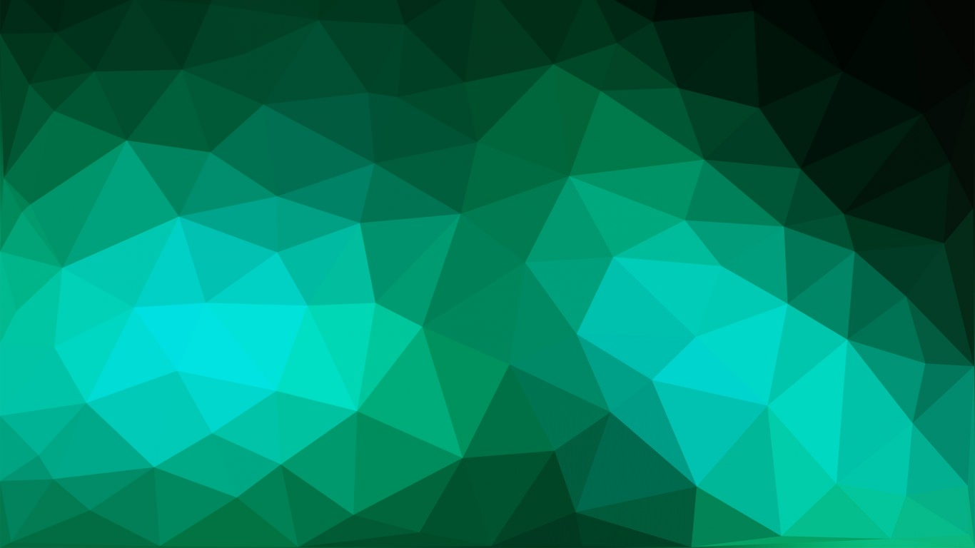 Green Polygon Texture Background Design