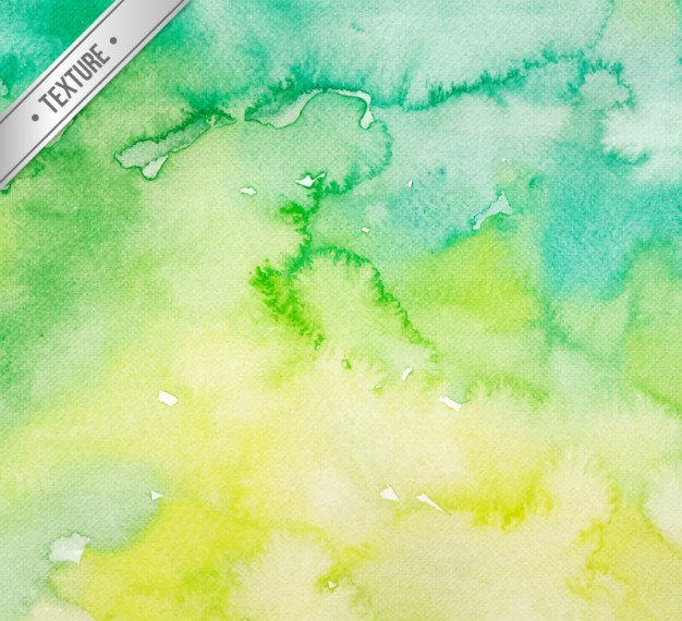 Green Tones Watercolor Background