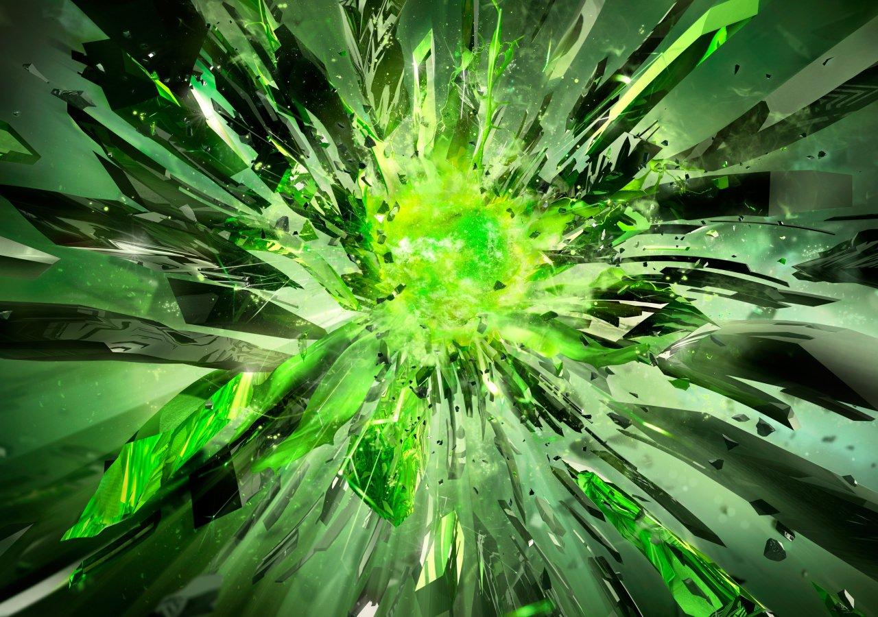 Gren Crystal Background