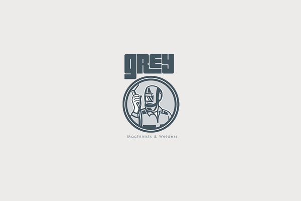 Grey Machinist & Welder Torch Logo