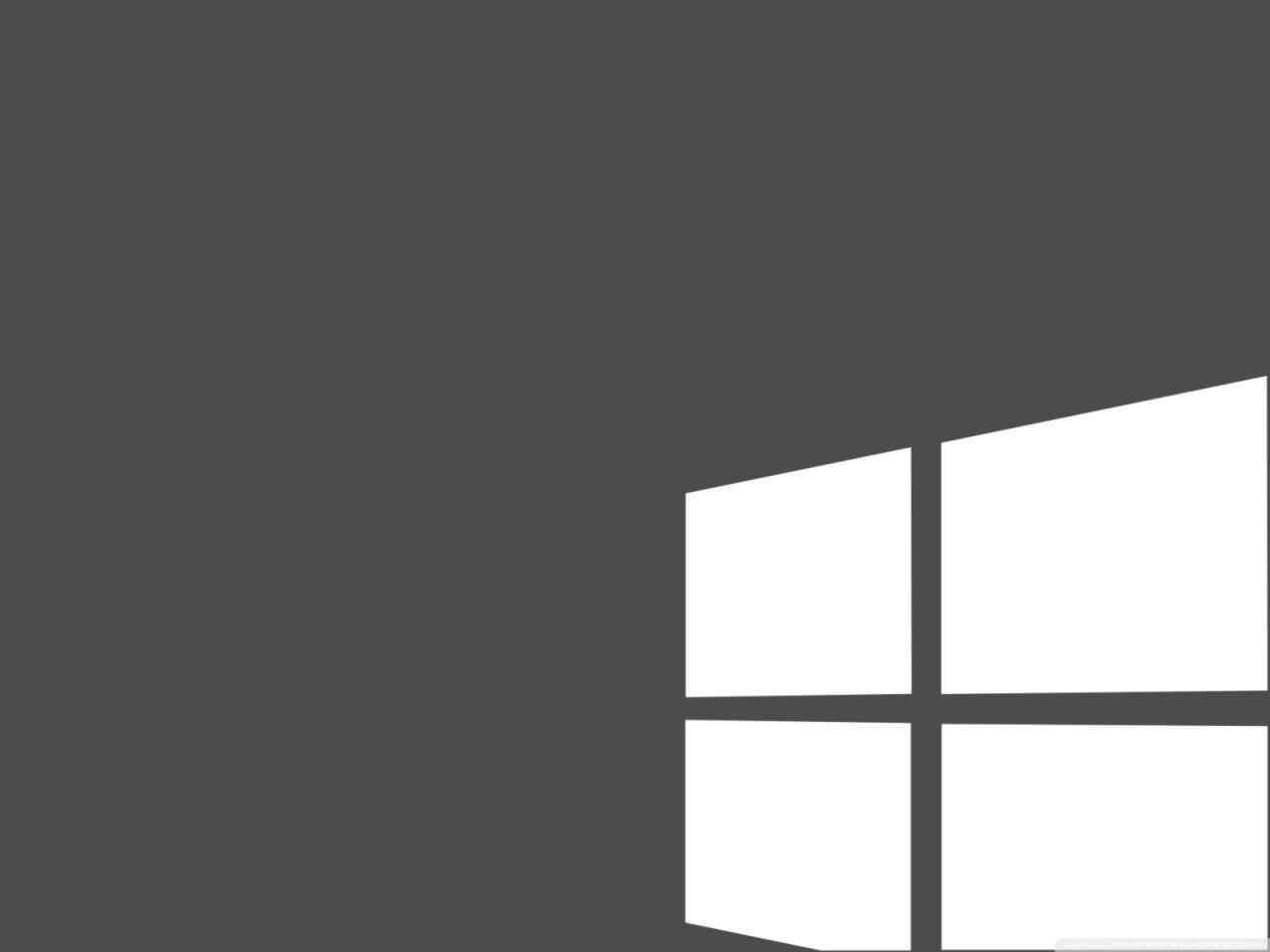 Grey & White Windows 10 Wallpaper