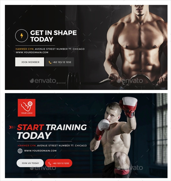 Gym & Fitness Facebook Post Banners