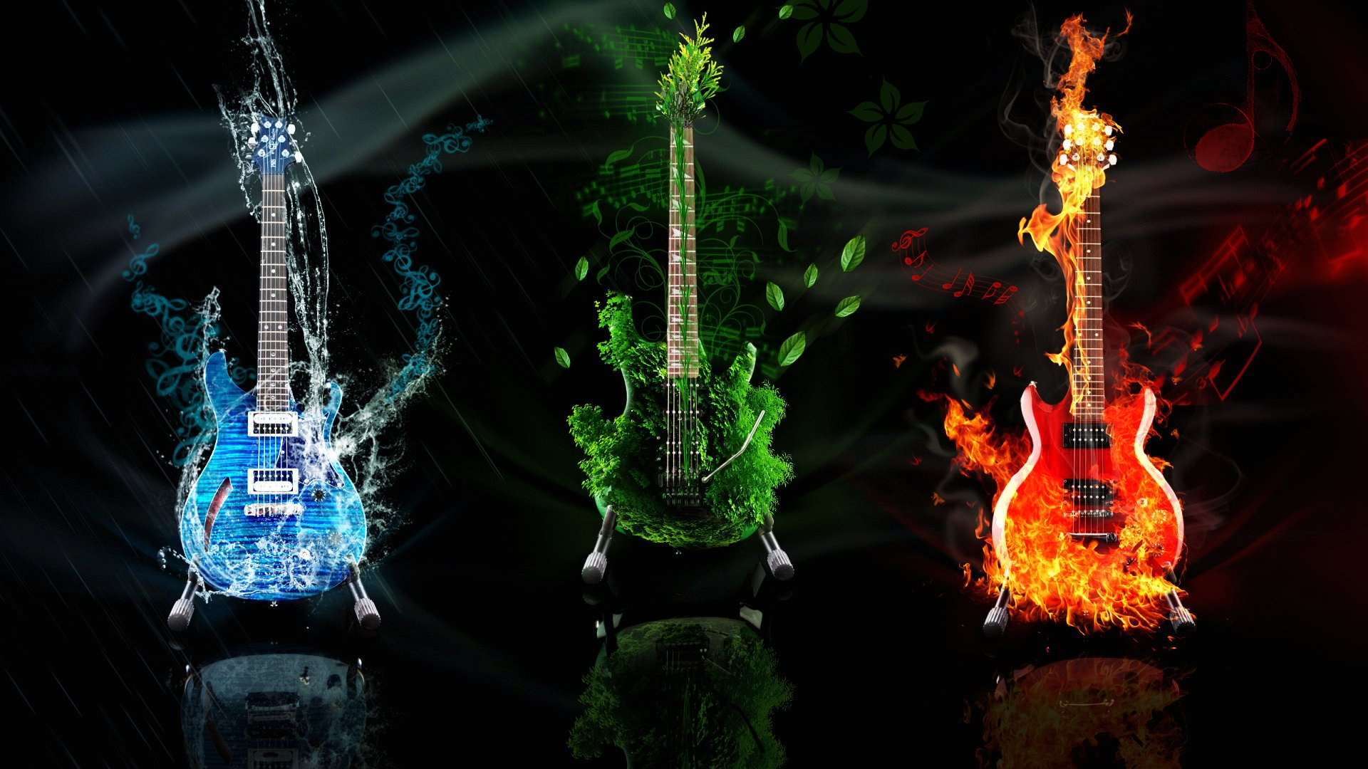 HD Music Guitars Wallpaper
