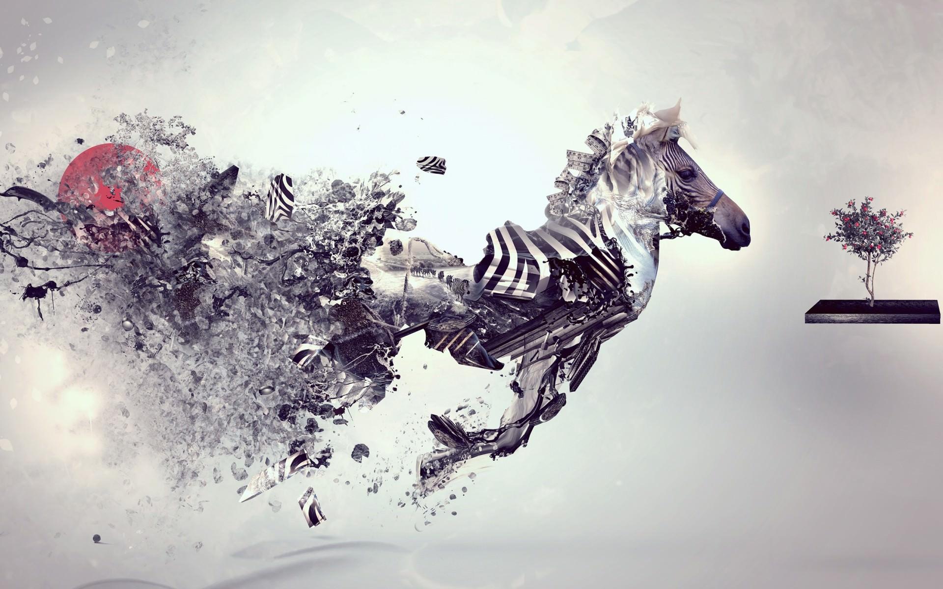 HD Zebra Artistic Wallpaper For Free