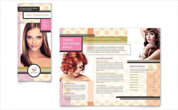 Hairstylist Promotion Brochure Template