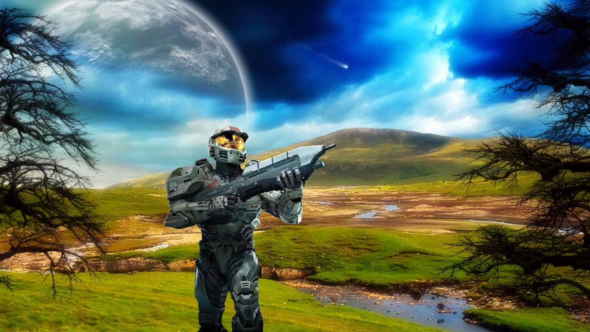 Halo Plain Planet Wallpaper
