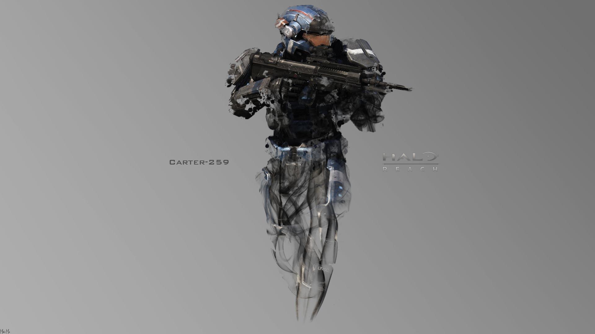 Halo Soldier with Gun Wallpaper