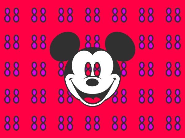 Happy Mickey Mouse Pattern