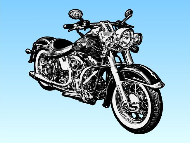 Harley Davidson Motorcycle Vector Graphics