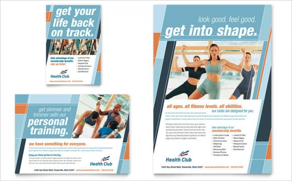 Health & Fitness Gym Flyer & Template