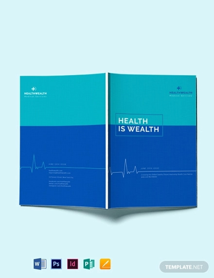 health and medical magazine template