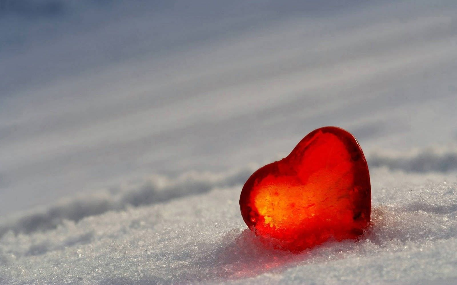 Heart in Ice HD Wallpaper