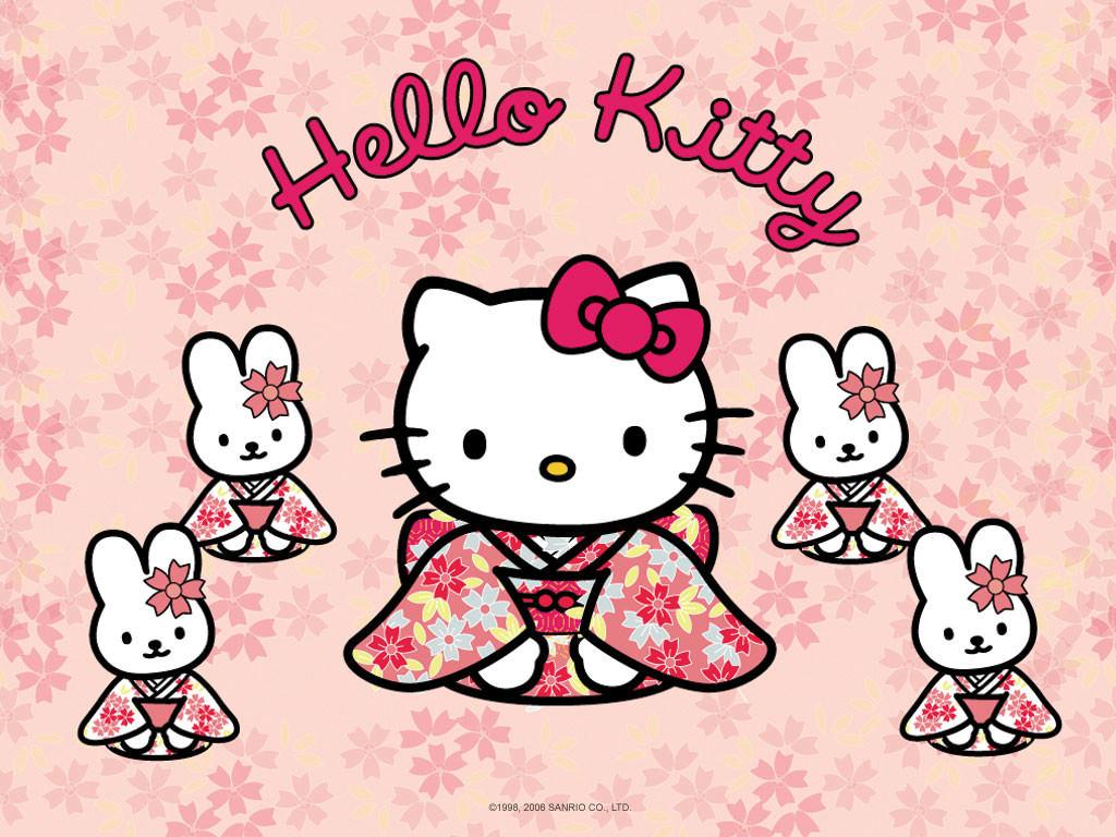 Hello Kitty Kimono Desktop Wallpaper