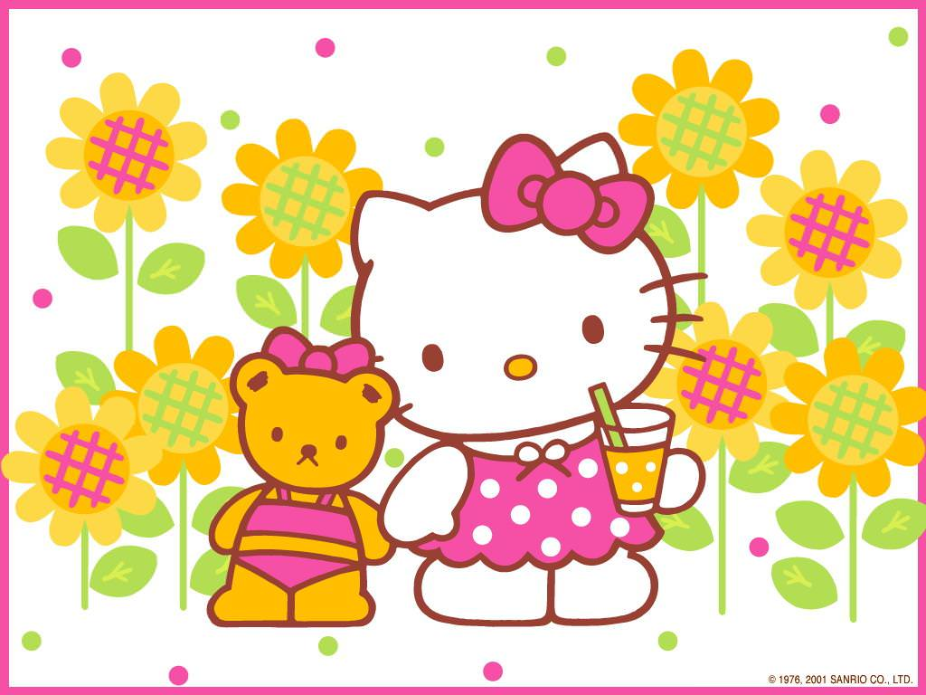 Hello Kitty Thanksgiving Background Wallpaper