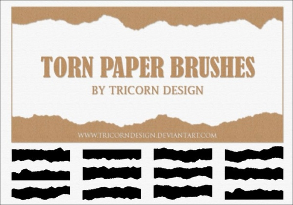 high quality torn paper brushes