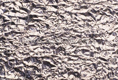 Wrinkled aluminum foil