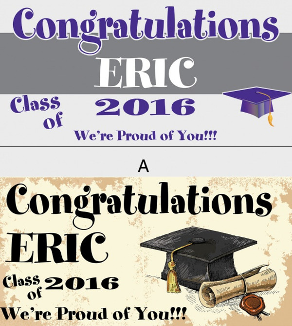 High Resolution Graduation Banner
