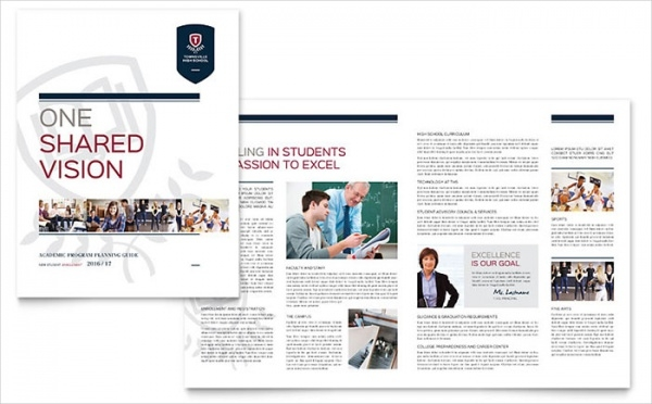 High School Course Brochure Template