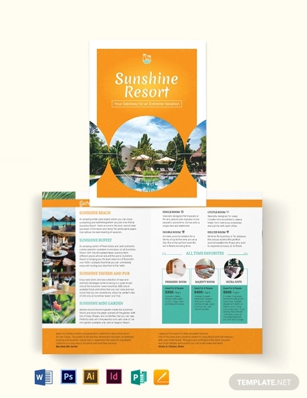 holiday bi fold brochure template