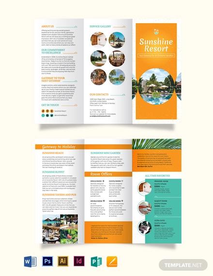 holiday tri fold brochure template