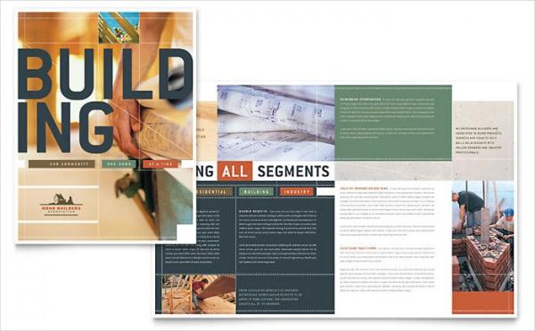 Home Builders & Construction Brochure Design