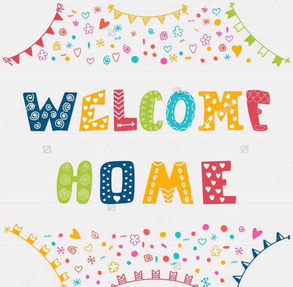 Homemade Welcome Banner