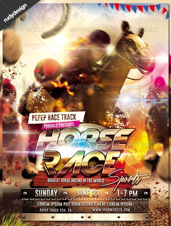 Horse Racing Flyer Design
