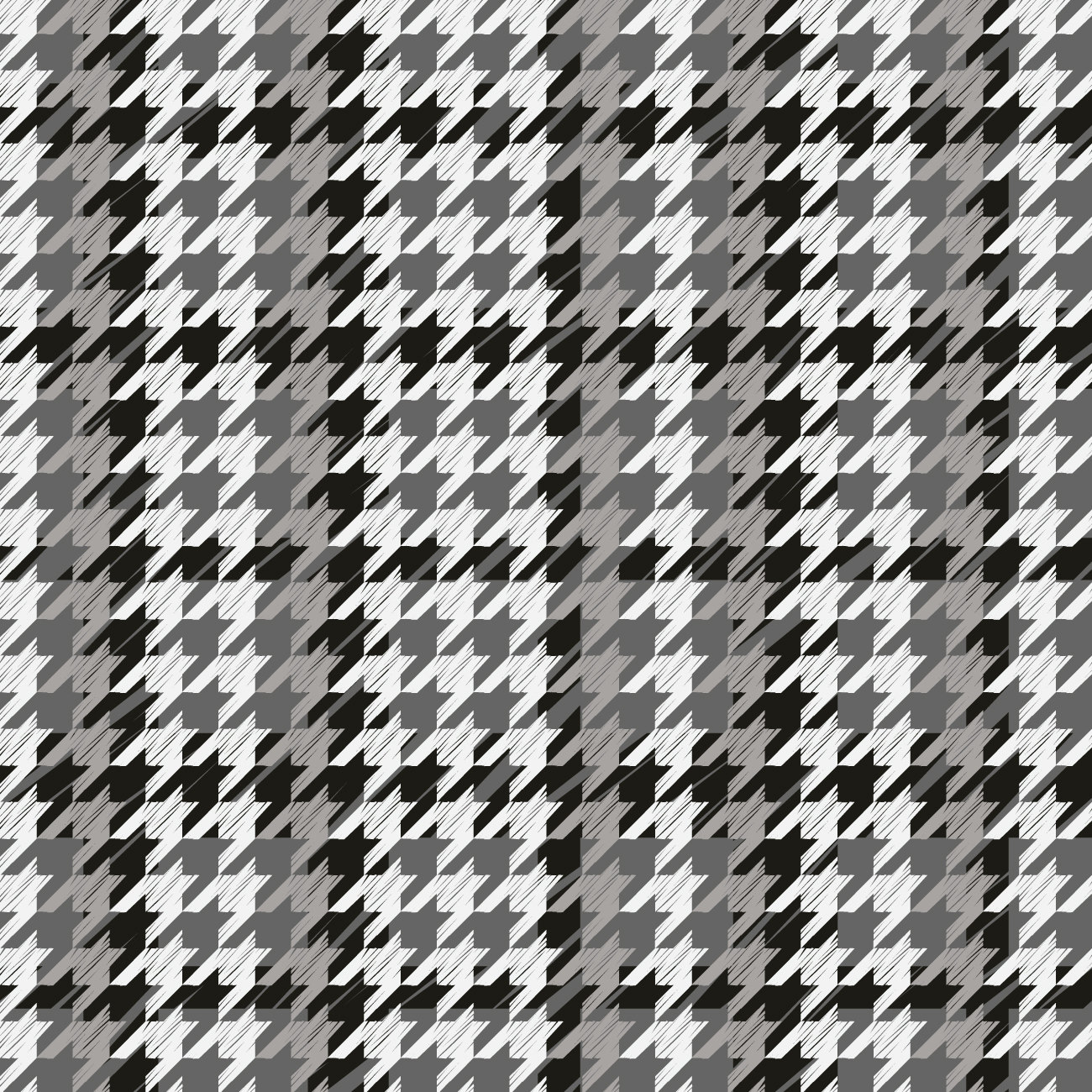 Houndstooth Grey Pattern