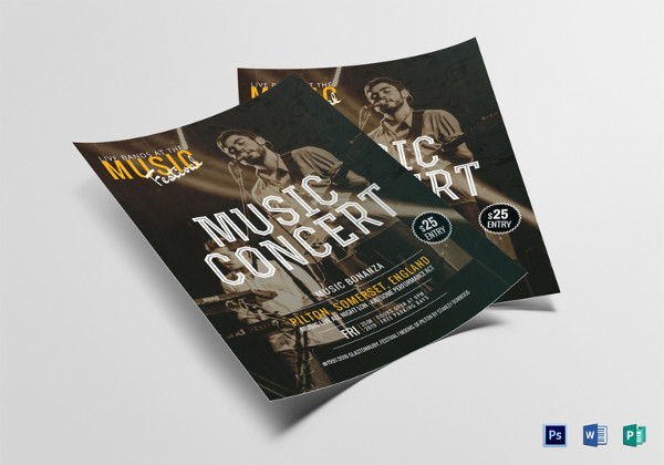Indie Music Concert Flyer Template
