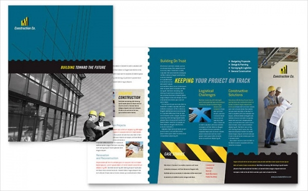 Industrial & Commercial Construction Brochure Design