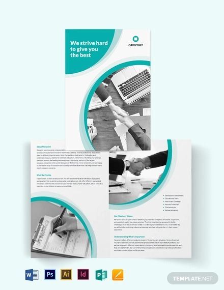 insurance bi fold brochure template