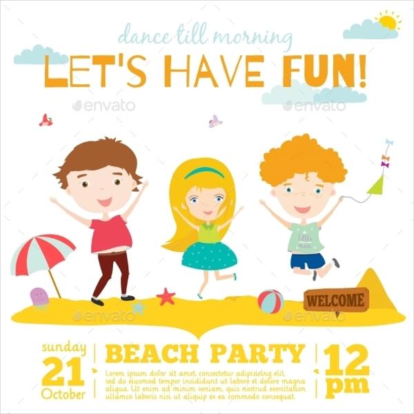 Invitation Card On Summer Beach Party