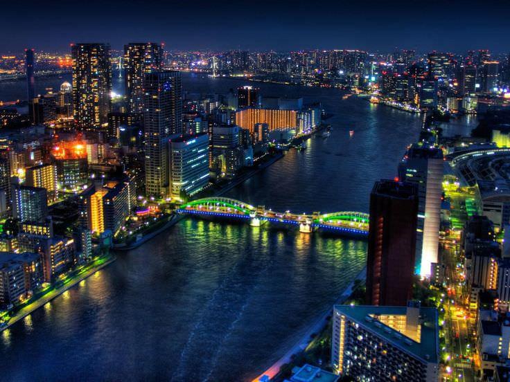 Japan Tokyo City Lights Wallpaper
