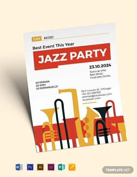 24  modern band flyer templates