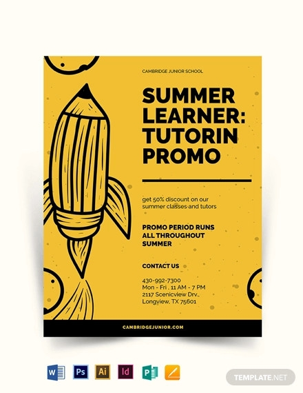 junior school education flyer template