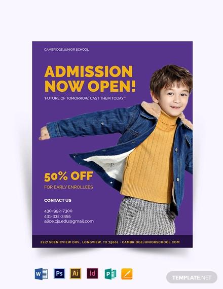 junior school promotion flyer template