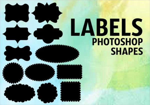 Label Shape Photoshop Brushes