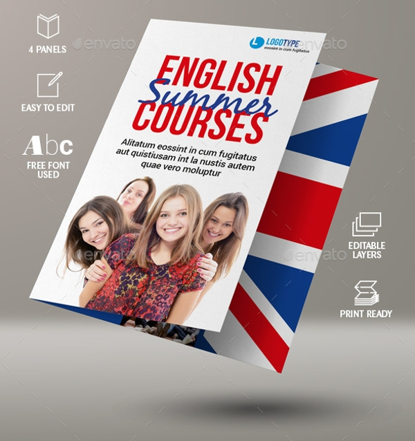 Language Course Bi-Fold Brochure