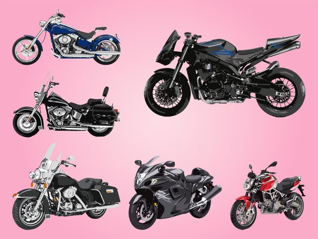 Large Vector Collection Motorcycles