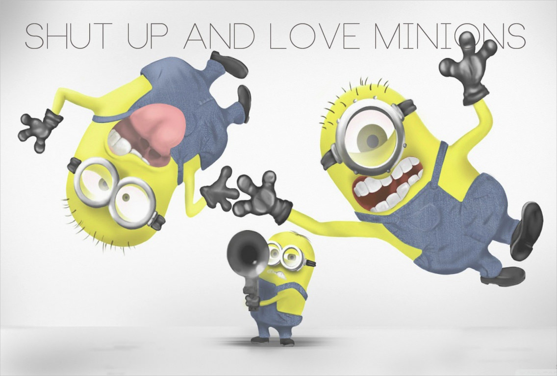 Love Minions Funny Wallpaper