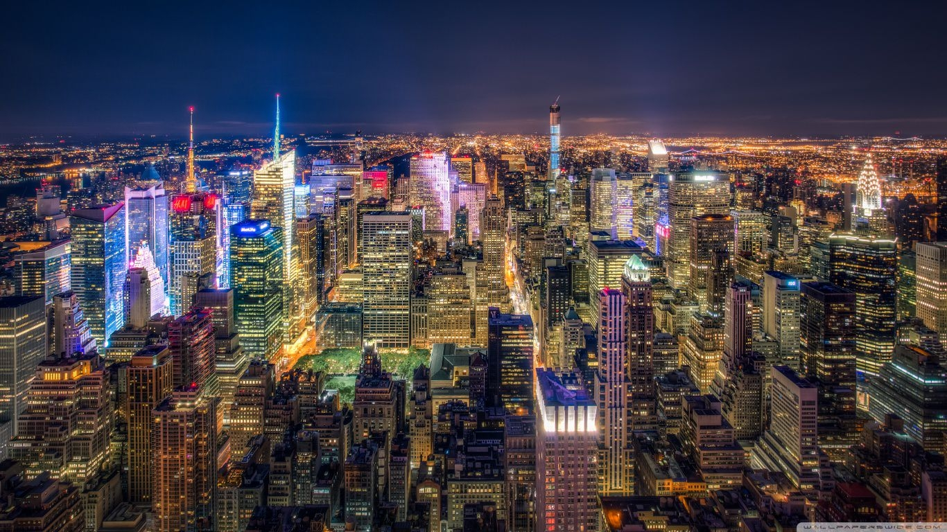 Manhattan Aerial View Wallpaper
