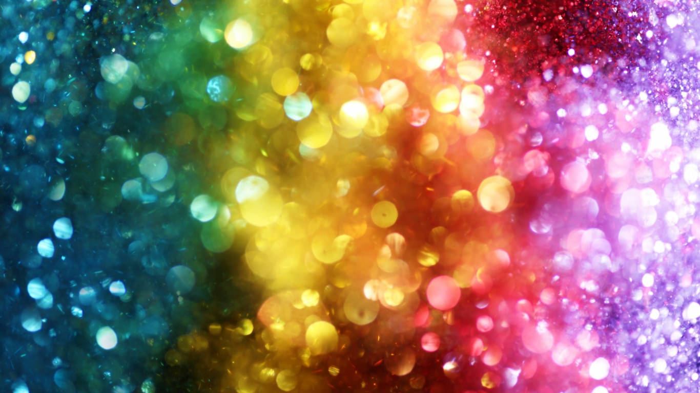 rainbow bokeh red glitter - photo #11