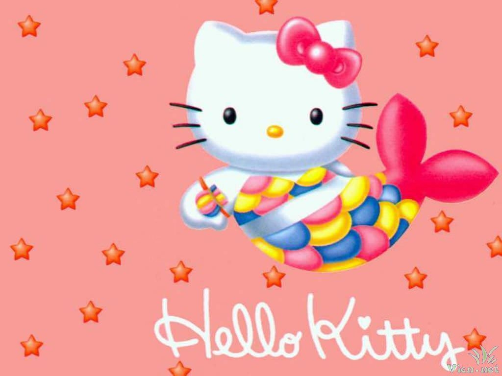 Download Wallpaper Hello Kitty Animated - Mermaid-Hello-Kitty-Wallpaper  Trends_378574.jpg