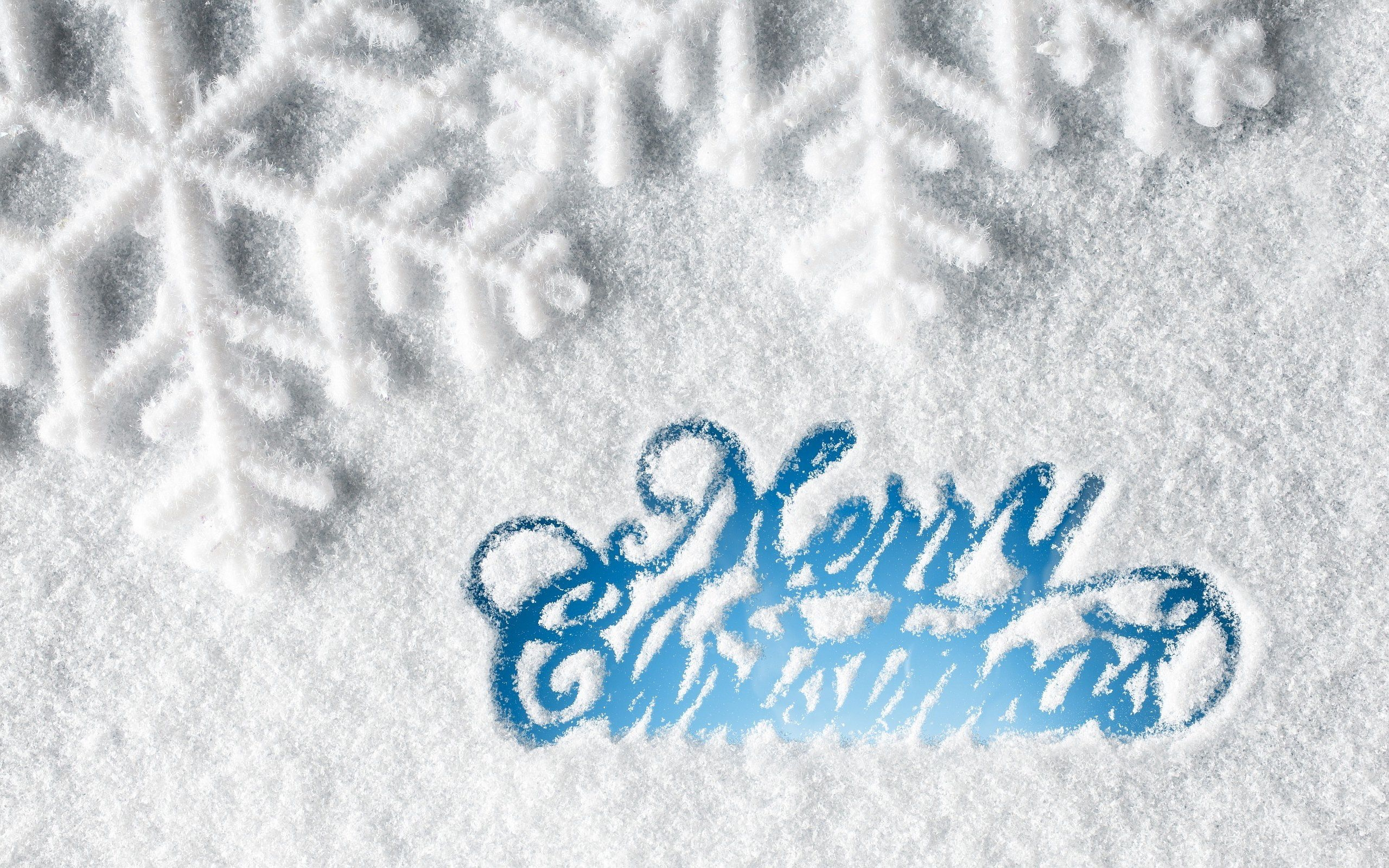 Merry Christmas Snow Wallpaper Background