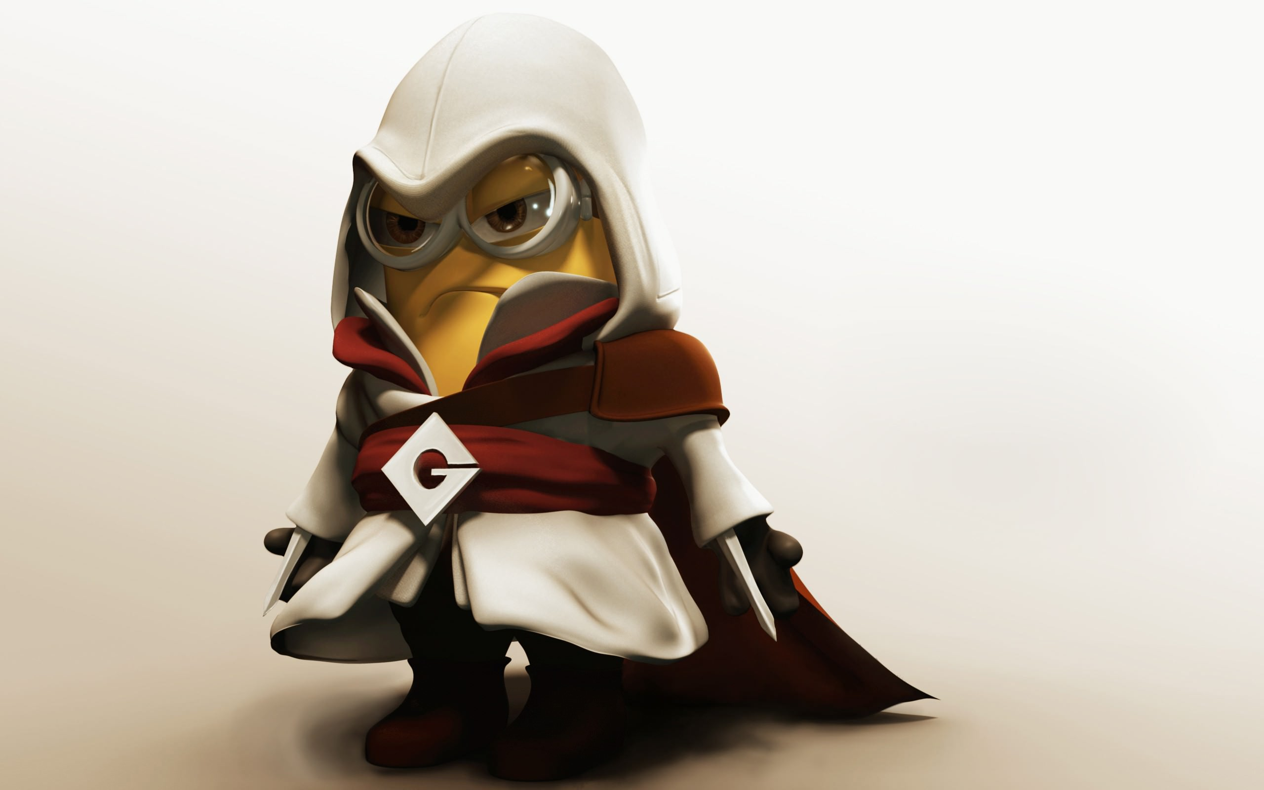 Minion in Assassins Creed Costume Wallpaper