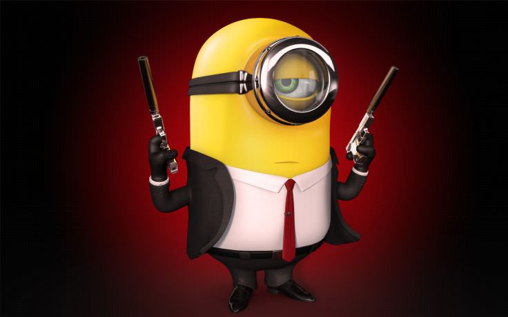 Minion in Hitman Costume Wallpaper