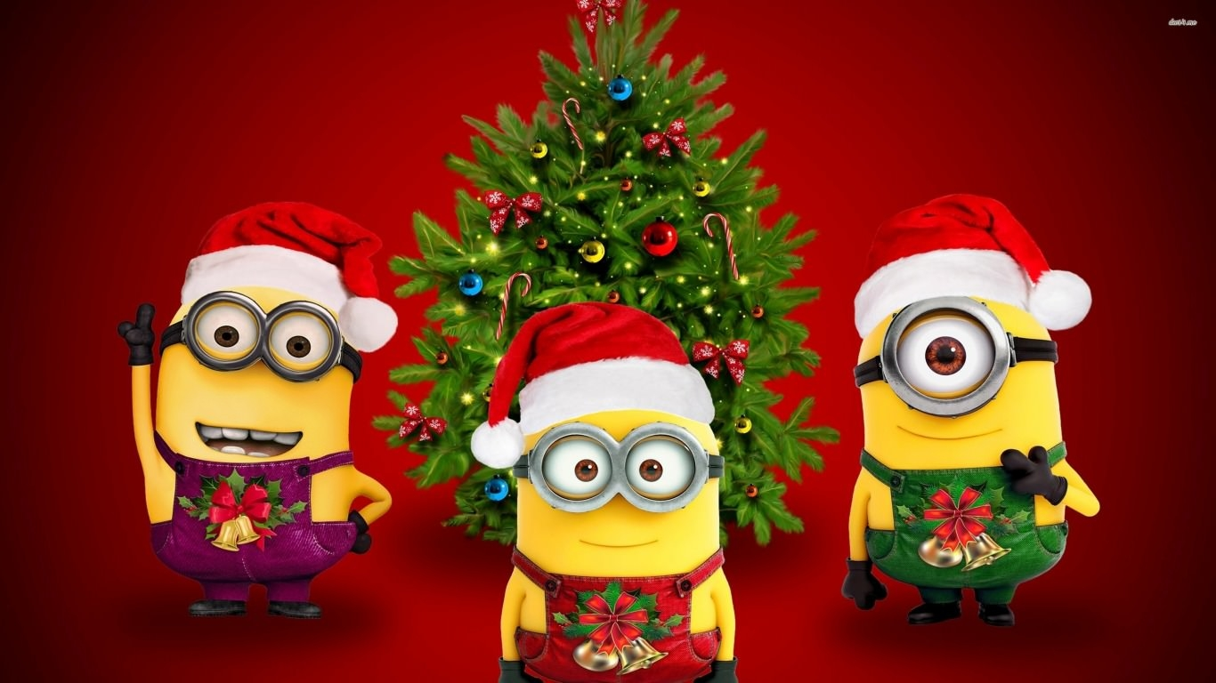 Minions Christmas Wallpaper