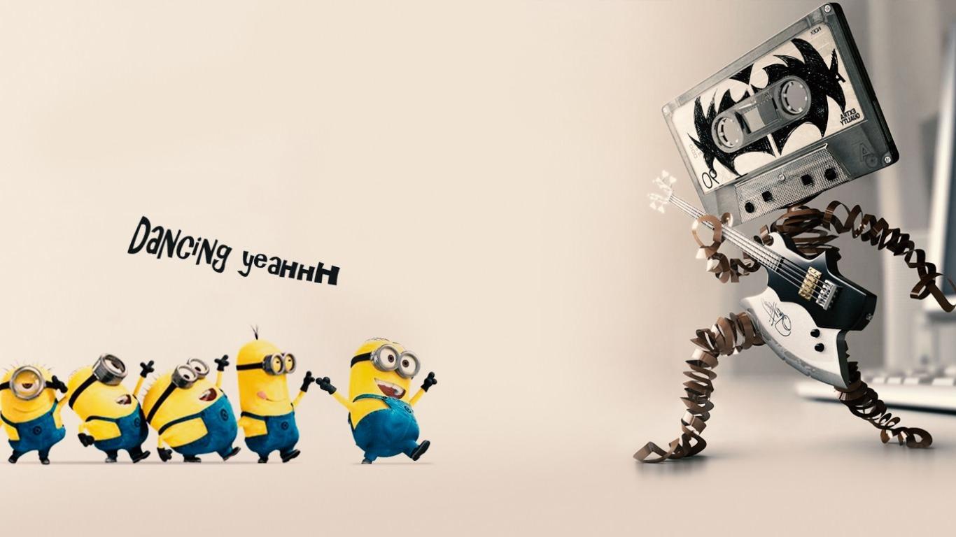 minions dancing yeah wallpaper